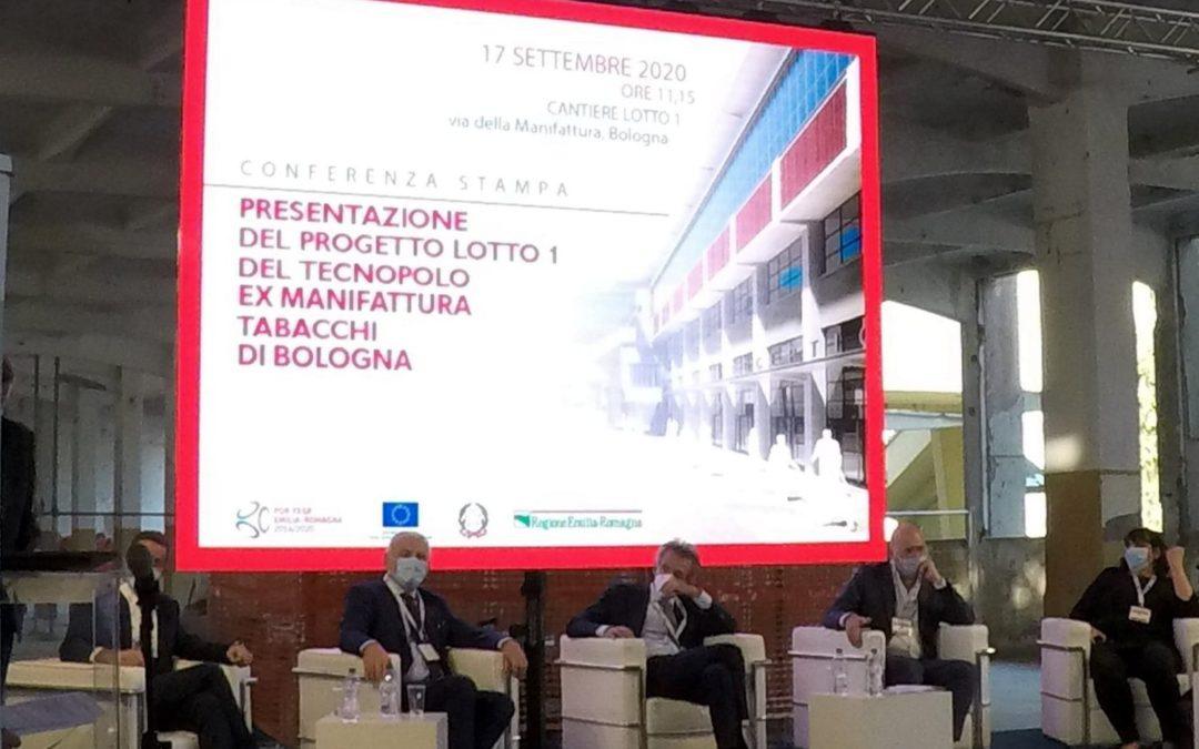 il ledwall Luxonix per la presentazione progetto nuovo tecnopolo di Bologna
