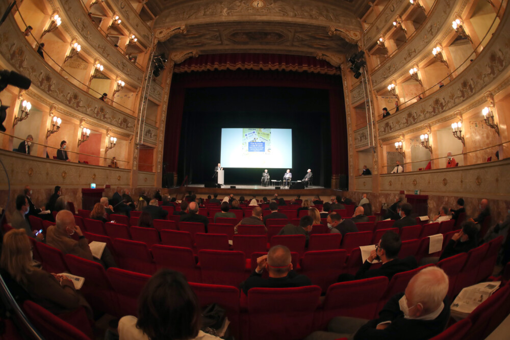serata per i 120 anni del Nuovo Diario Messaggero di Imola al teatro Ebe Stignani